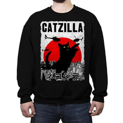 Catzilla City Attack - Crew Neck Sweatshirt - Crew Neck Sweatshirt - RIPT Apparel