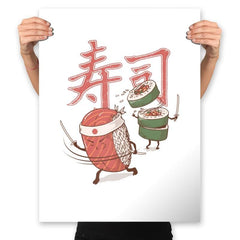 Sushi Warrior - Prints - Posters - RIPT Apparel