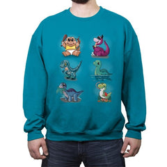 NerDinosaur - Crew Neck Sweatshirt - Crew Neck Sweatshirt - RIPT Apparel