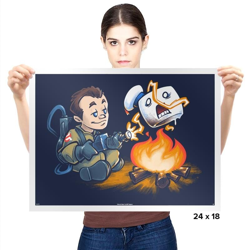 Stay-Burnt, Marshmallow Man Exclusive - Prints - Posters - RIPT Apparel