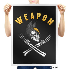 Weapon X Pirate Flag - Prints - Posters - RIPT Apparel