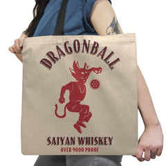 Dragonball Whiskey - Kamehameha Tees - Tote Bag - Tote Bag - RIPT Apparel