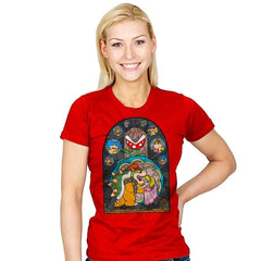 Beauty and the Bowser - Womens - T-Shirts - RIPT Apparel