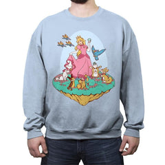 Snow Peach of Lylat - Crew Neck Sweatshirt - Crew Neck Sweatshirt - RIPT Apparel