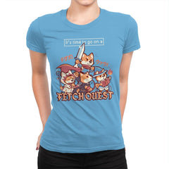 Fetch Quest - Womens Premium - T-Shirts - RIPT Apparel