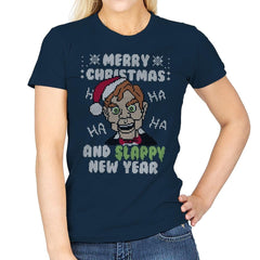 Slappy New Year! - Ugly Holiday - Womens - T-Shirts - RIPT Apparel