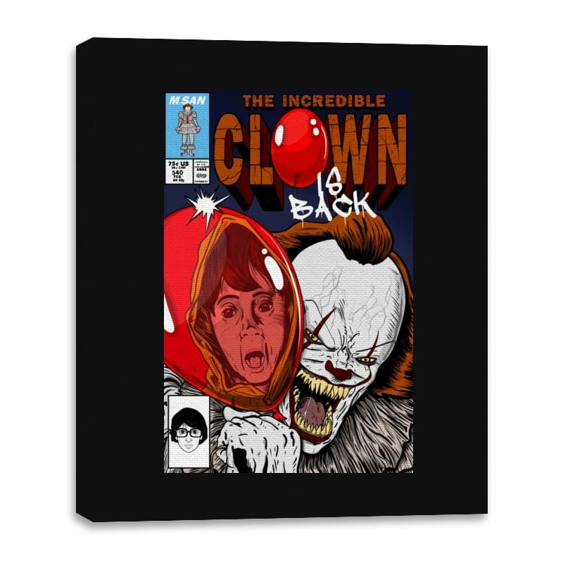 The Incredible Clown - Canvas Wraps - Canvas Wraps - RIPT Apparel