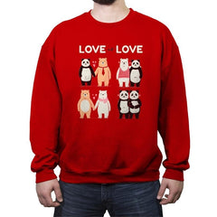 Love Is Love  - Crew Neck Sweatshirt - Crew Neck Sweatshirt - RIPT Apparel