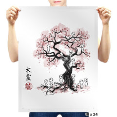 Forest Spirits Sumi-E - Sumi Ink Wars - Prints - Posters - RIPT Apparel