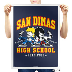 San Dimas High School - Prints - Posters - RIPT Apparel