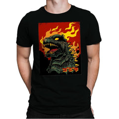 Godzilla on Fire - Mens Premium - T-Shirts - RIPT Apparel