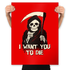 Death Chose You! - Anytime - Prints - Posters - RIPT Apparel