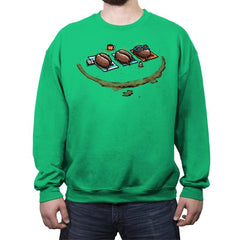 Roasted Coffee - Crew Neck Sweatshirt - Crew Neck Sweatshirt - RIPT Apparel
