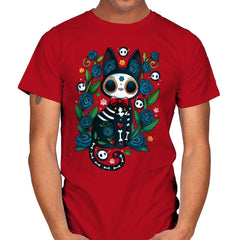 Calavera Witched Cat - Mens - T-Shirts - RIPT Apparel