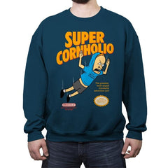 Super Cornholio - Crew Neck Sweatshirt - Crew Neck Sweatshirt - RIPT Apparel