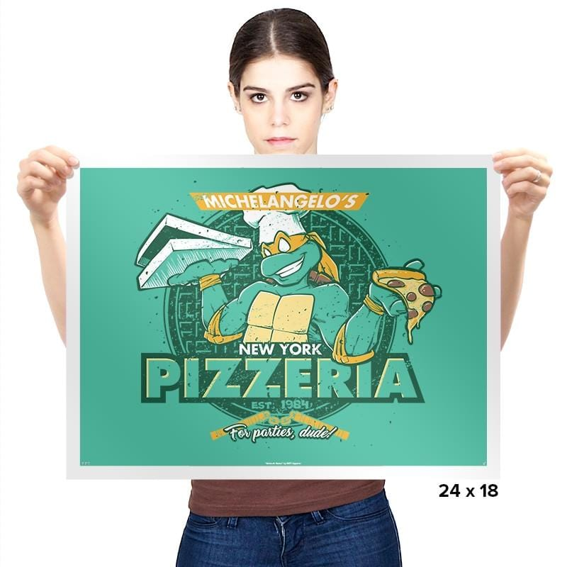 Mikey's Pizzeria Exclusive - Prints - Posters - RIPT Apparel