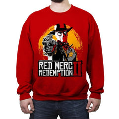 Red Merc Redemption II - Crew Neck Sweatshirt - Crew Neck Sweatshirt - RIPT Apparel