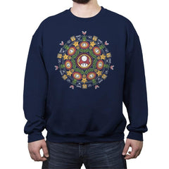 One Up Mandala - Crew Neck Sweatshirt - Crew Neck Sweatshirt - RIPT Apparel