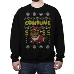 Consume! - Crew Neck Sweatshirt - Crew Neck Sweatshirt - RIPT Apparel