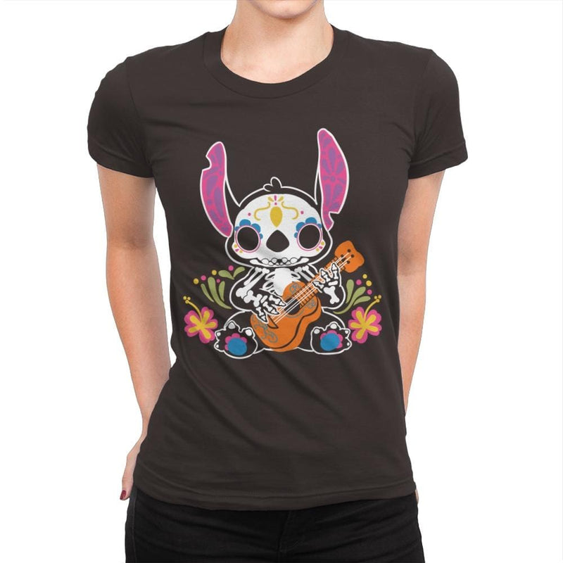 Calavera Alien - Womens Premium - T-Shirts - RIPT Apparel