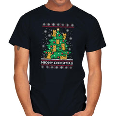 Meowy christmas - Ugly holiday - Mens - T-Shirts - RIPT Apparel