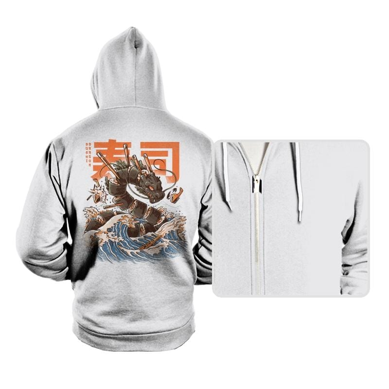Great Sushi Dragon  - Hoodies - Hoodies - RIPT Apparel