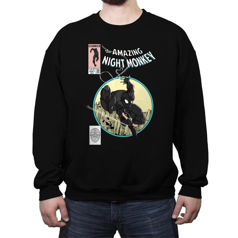 The Amazing Night Monkey - Anytime - Crew Neck Sweatshirt - Crew Neck Sweatshirt - RIPT Apparel
