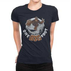One Big Foot - Womens Premium - T-Shirts - RIPT Apparel
