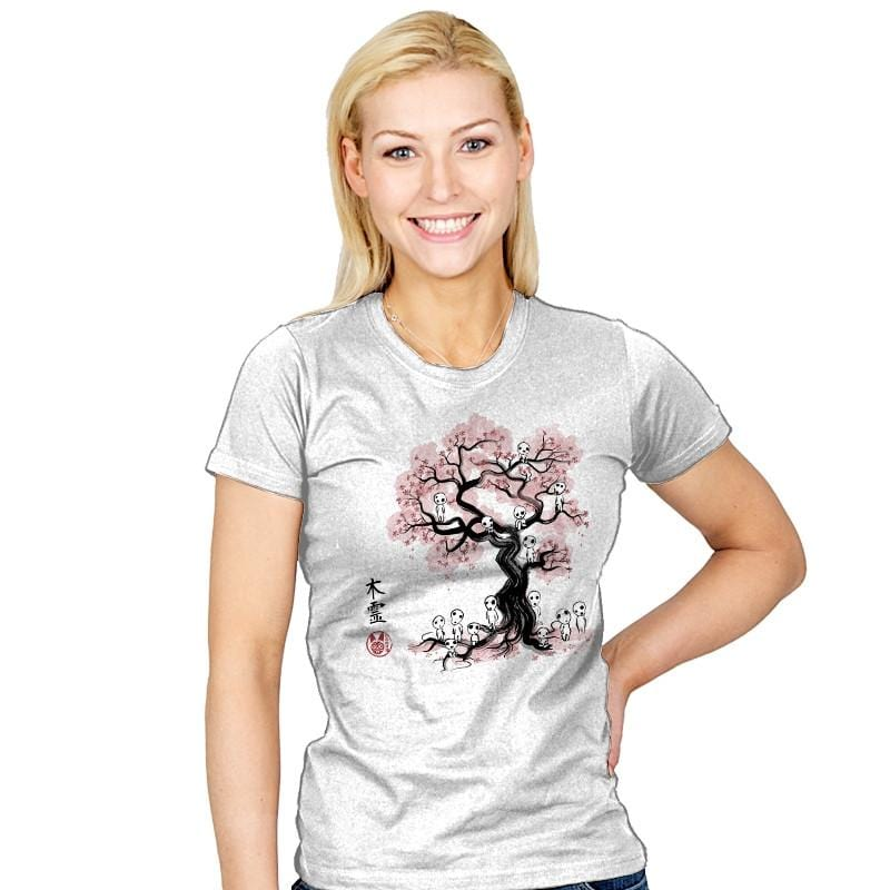 Forest Spirits Sumi-E - Sumi Ink Wars - Womens - T-Shirts - RIPT Apparel