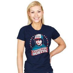 I Voted for Dustin - Womens - T-Shirts - RIPT Apparel
