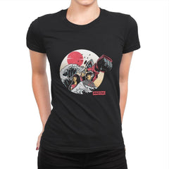 Great Love of Kanagwa Wave - Womens Premium - T-Shirts - RIPT Apparel