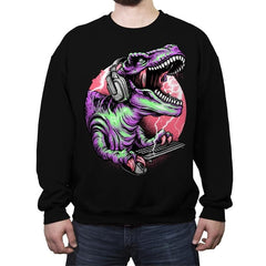 Dino Rage - Crew Neck Sweatshirt - Crew Neck Sweatshirt - RIPT Apparel
