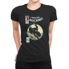 The Amazing Night Monkey - Anytime - Womens Premium - T-Shirts - RIPT Apparel