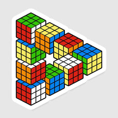 Magic Puzzle Cube Exclusive - Sticker - Stickers - RIPT Apparel