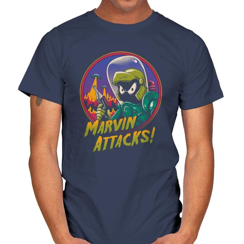 Marvin Attacks! - Mens - T-Shirts - RIPT Apparel