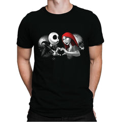 Her Skeleton, His Doll - Mens Premium - T-Shirts - RIPT Apparel
