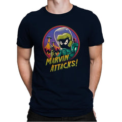 Marvin Attacks! - Mens Premium - T-Shirts - RIPT Apparel