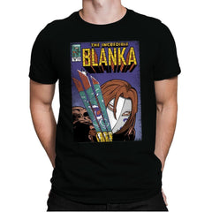 The Incredible Blanka! - Mens Premium - T-Shirts - RIPT Apparel