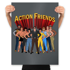 Action Friends - Prints - Posters - RIPT Apparel