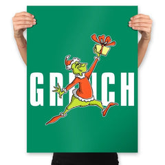 Air Grinch - Prints - Posters - RIPT Apparel