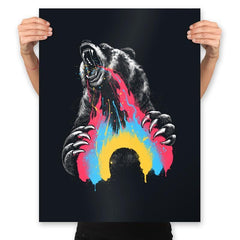 Angry Bear Don't Care - Prints - Posters - RIPT Apparel