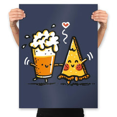 Beer and Pizza - Prints - Posters - RIPT Apparel
