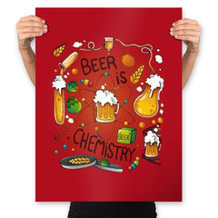 Beer is Chemistry - Prints - Posters - RIPT Apparel