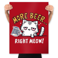 Beer Right Meow - Prints - Posters - RIPT Apparel