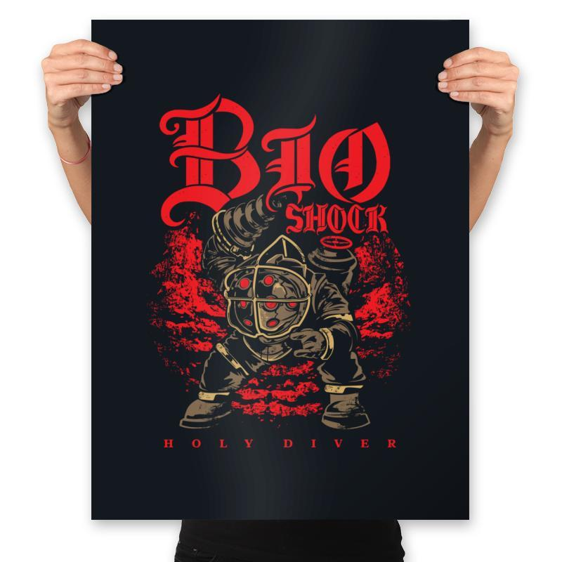 Big Holy Diver - Prints - Posters - RIPT Apparel