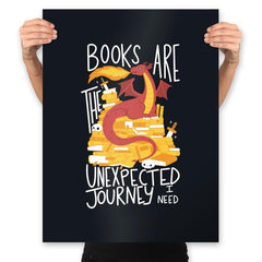 Book Dragon - Prints - Posters - RIPT Apparel