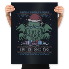 Call Of Christmas - Ugly Holiday - Prints - Posters - RIPT Apparel