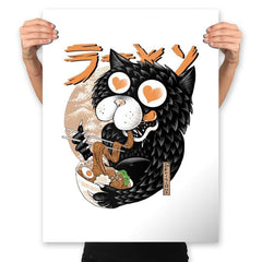 Cat Love Ramen - Prints - Posters - RIPT Apparel