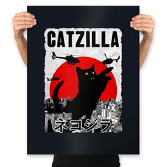 Catzilla City Attack - Prints - Posters - RIPT Apparel