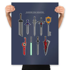Choose Your Weapons - Prints - Posters - RIPT Apparel